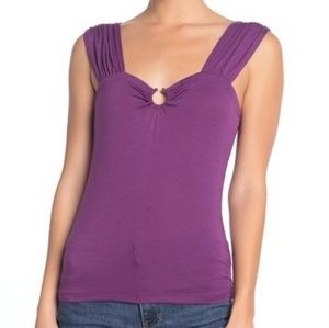Free People Purple Fitted Tank Top
